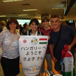 Sayoko fogadása Magyarországon
