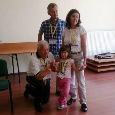 GOL gyermek szüleivel, Kercsmár Andrással