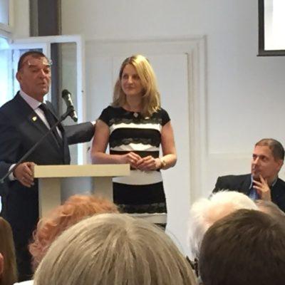 Az újonnan alakuló RC Dunaharaszti elnökasszonya