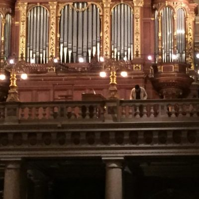Szent István Bazilika orgonája a művésszel