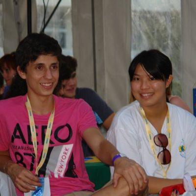 Cserediákjaink Sayoko és Giu Zánkán