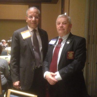 Rawi Rawindran Rotary Világelnökkel Chicago-ban