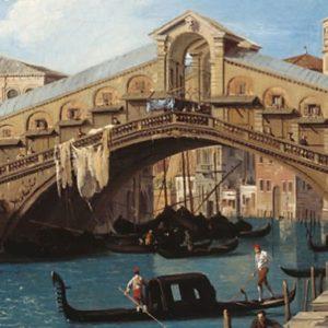 Elsőként Canaletto velencei képeivel találkoztunk a legfelső szinten.