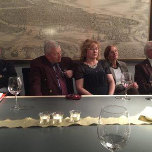 Frank, András, Elvira, PDG Sonnhard Lungfiel és neje.