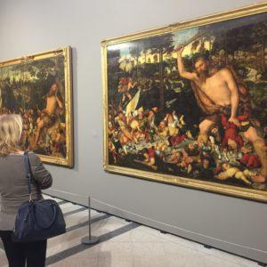 Lucas Cranachtól is sok kép látható a 15. század végéről, a 16. század elejéről.