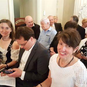 A RC Dresden-Canaletto képviselői, Christan Meyer feleségével és Évivel