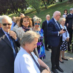 Az olasz küldöttség a Tabánban
