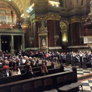 Az immáron hagyomáyos jótékonysági orgonakoncert közönsége