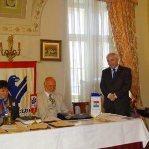 Mészáros Zoltán DGE köszöntése a RC Szolnok képviseletében
