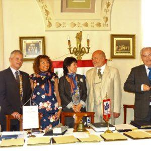 Közös spontán fotó az elnökasszonnyal, Daniella Spallanzanival