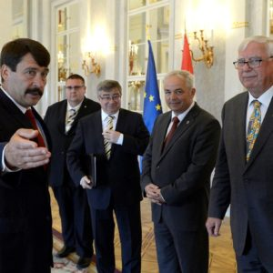 Áder János fogadta a Rotary világelnökét