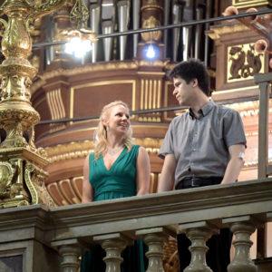 Az est főszereplői: Schnöller Szabina operaénekes és Virágh András Gábor orgonaművész
